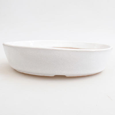 Ceramic bonsai bowl 18 x 18 x 5 cm, color white - 1