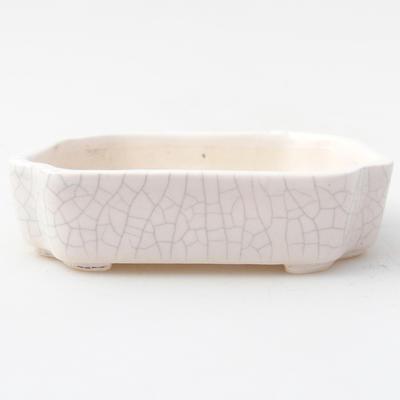 Ceramic bonsai bowl 10 x 8,5 x 2,5 cm, crayfish color - 1