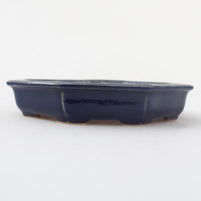 Ceramic bonsai bowl 11,5 x 11,5 x 2 cm, color blue - 1