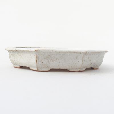 Ceramic bonsai bowl 11,5 x 11,5 x 2 cm, crayfish color - 1