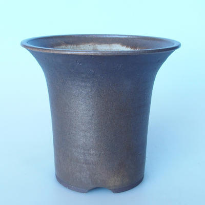 Ceramic bonsai bowl 22 x 22 x 19,5 cm color brown - 1
