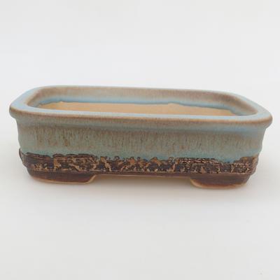 Ceramic bonsai bowl 16 x 10 x 4,5 cm, color blue - 1