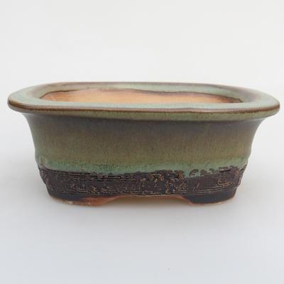 Ceramic bonsai bowl 12 x 9 x 5 cm, color green - 1
