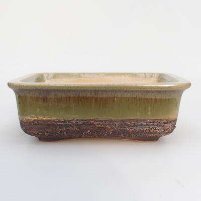 Ceramic bonsai bowl 17 x 12 x 6 cm, color green - 1