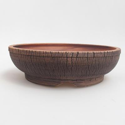 Ceramic bonsai bowl 23,5 x 23,5 x 6,5 cm, color brown - 1