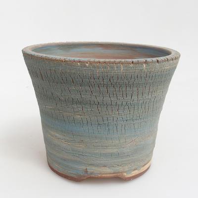 Ceramic bonsai bowl 14,5 x 14,5 x 11 cm, brown-blue color - 1