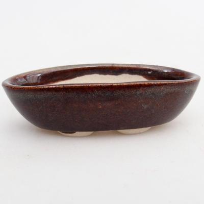 Mini bonsai bowl 7 x 3,5 x 2 cm, color brown - 1