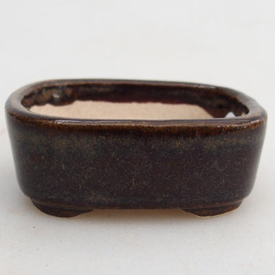Mini bonsai bowl 4,5 x 3,5 x 1,5 cm, color brown - 1
