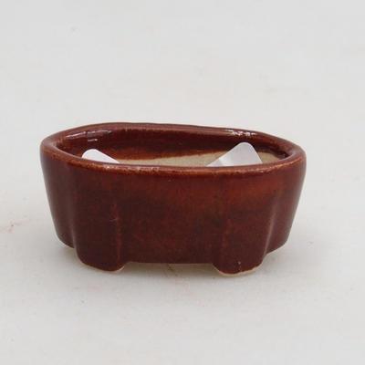 Mini bonsai bowl 4 x 2,5 x 1,5 cm, color brown - 1