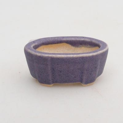 Mini bonsai bowl 4 x 2,5 x 2 cm, color violet - 1
