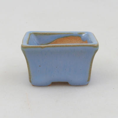Mini bonsai bowl 4 x 3 x 2.5 cm, color blue - 1