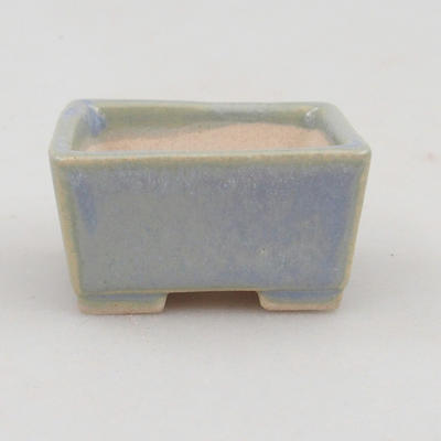 Mini bonsai bowl 4 x 3,5 x 2 cm, color blue - 1