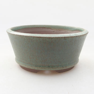 Ceramic bonsai bowl 9 x 9 x 4 cm, color green - 1