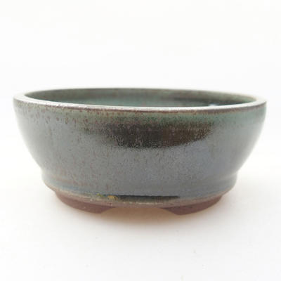 Ceramic bonsai bowl 9 x 9 x 3.5 cm, color green - 1