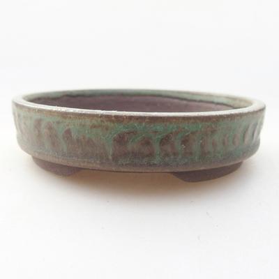 Ceramic bonsai bowl 9 x 9 x 2 cm, color green - 1