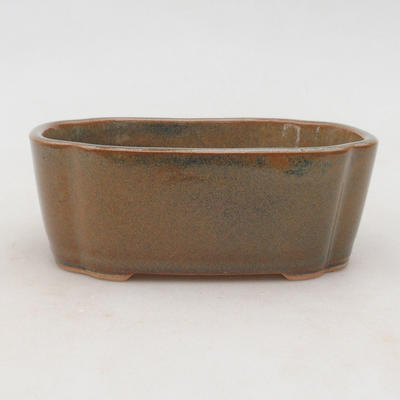 Ceramic bonsai bowl 12 x 9.5 x 4.5 cm, color gray-rusty - 1
