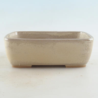 Ceramic bonsai bowl 16 x 11 x 5.5 cm, beige color - 1
