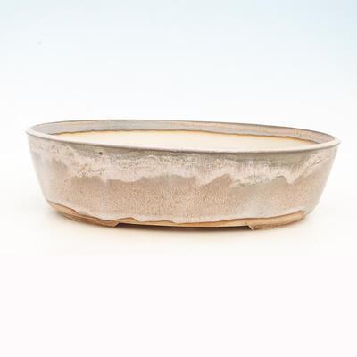 Bonsai bowl 44 x 35 x 11.5 cm, gray-beige color - 1