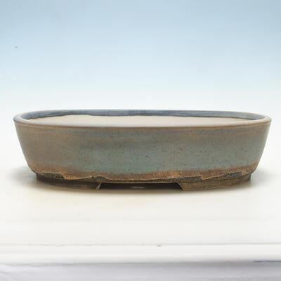 Bonsai bowl 31 x 24 x 8 cm, gray-beige color - 1