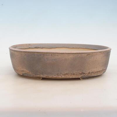 Bonsai bowl 32 x 24 x 8.5 cm, gray-beige color - 1