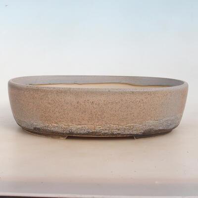 Bonsai bowl 31 x 24 x 8.5 cm, gray-beige color - 1