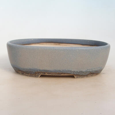 Bonsai bowl 27 x 19.5 x 8 cm, color blue-gray - 1