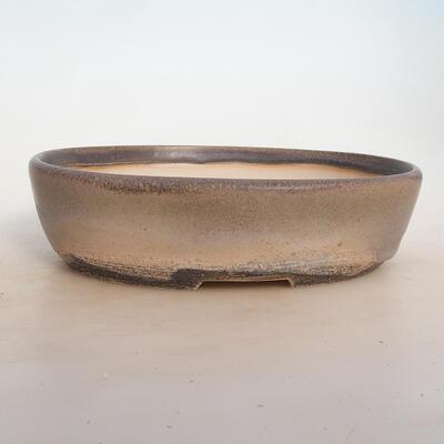 Bonsai bowl 25 x 19 x 6.5 cm, gray-beige color - 1