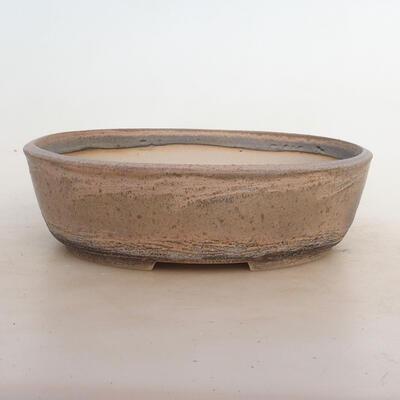 Bonsai bowl 24.5 x 19.5 x 7 cm, gray-beige color - 1