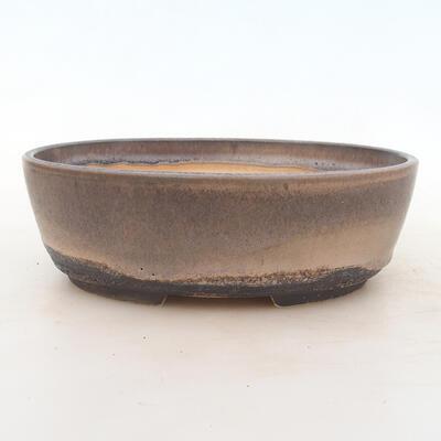 Bonsai bowl 22 x 16.5 x 6 cm, gray-beige color - 1