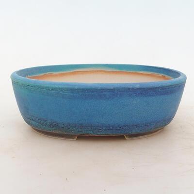 Bonsai bowl 22 x 17 x 7 cm, color blue - 1
