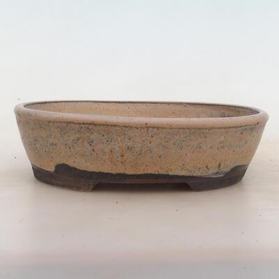 Bonsai bowl 19.5 x 15.5 x 5 cm, gray-beige color - 1