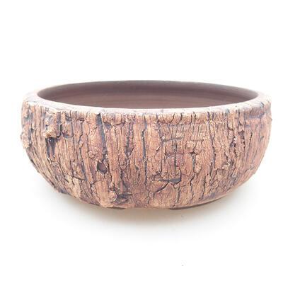 Ceramic bonsai bowl 14.5 x 14.5 x 5 cm, color cracked - 1