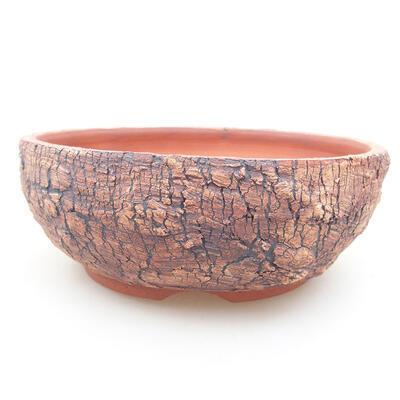 Ceramic bonsai bowl 15 x 15 x 5.5 cm, color cracked - 1