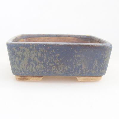Ceramic bonsai bowl 9.5 x 8 x 3.5 cm, color blue - 1