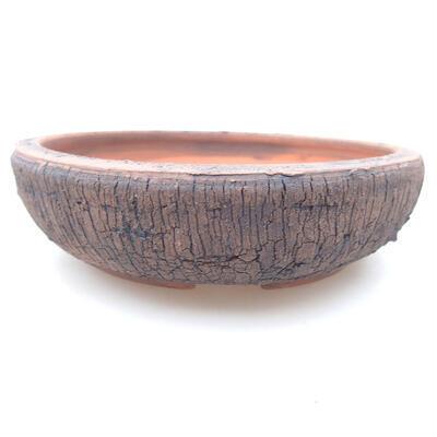 Ceramic bonsai bowl 16.5 x 16.5 x 4.5 cm, cracked color - 1