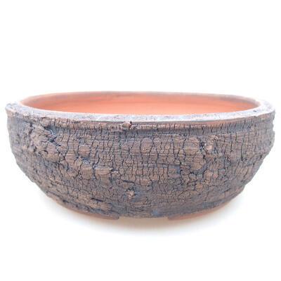 Ceramic bonsai bowl 15 x 15 x 5 cm, color cracked - 1