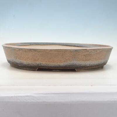 Bonsai bowl 45 x 35.5 x 8.5 cm, color beige-gray - 1