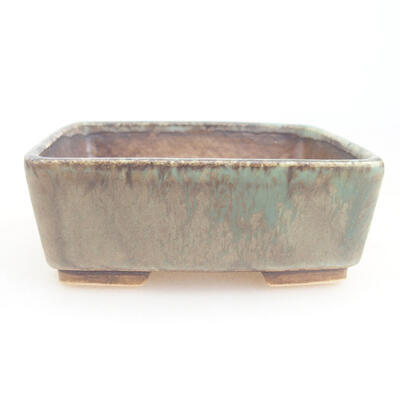 Ceramic bonsai bowl 9.5 x 8 x 3.5 cm, color green - 1