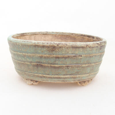 Ceramic bonsai bowl 10.5 x 9 x 4.5 cm, color brown-green - 1