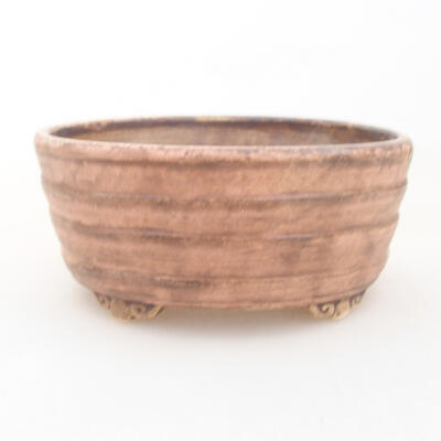 Ceramic bonsai bowl 10.5 x 9 x 4.5 cm, color pink - 1