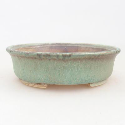Ceramic bonsai bowl 12 x 11 x 3 cm, color green - 1