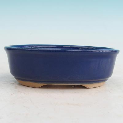 Bonsai ceramic bowl H 04, blue - 1