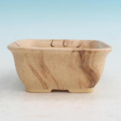 Ceramic bonsai bowl H 36 - 17 x 15 x 8 cm, beige - 17 x 15 x 8 cm - 1