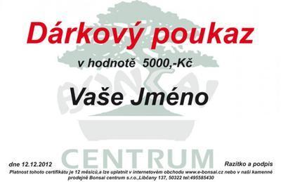 Gift Voucher 5000 CZK