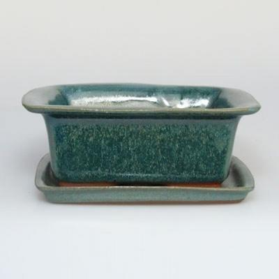 Bonsai bowl H1 - 11,5 x 10 x 4,5 cm, 1 x 9,5 x 1 cm - 1