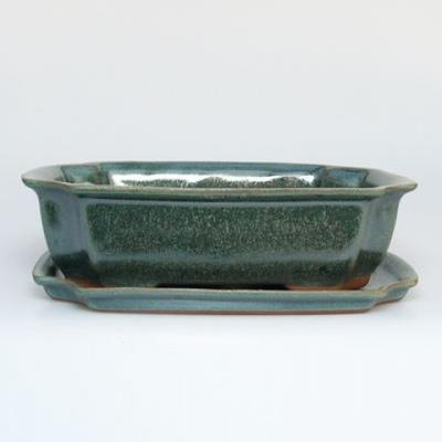 Bonsai bowl tray H03 - 16,5 x 11,5 x 5 cm, tray 16,5 x 11,5 x 1 cm - 1