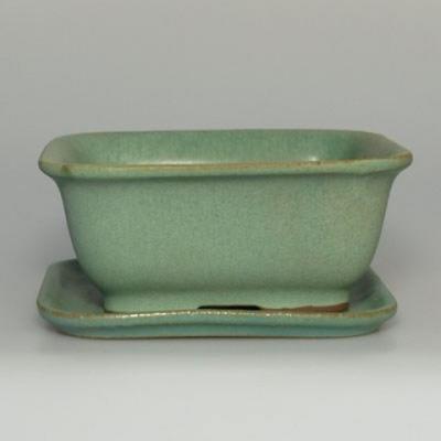 Bonsai bowl H38 - bowl 12 x 10 x 5,5 cm, bowl 12 x 10 x 1 cm - 1