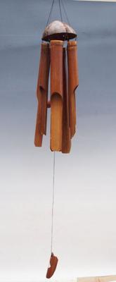 Bamboo wind chimes dark 140 cm