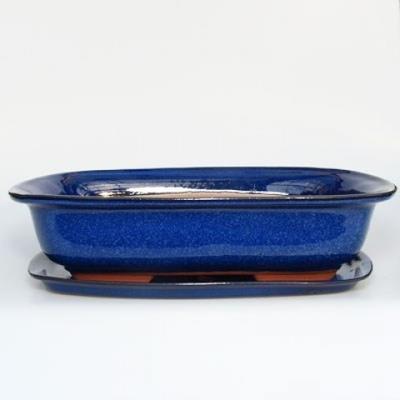Bonsai bowl + tray H09 - bowl 31 x 21 x 8 cm, tray 28 x 19 x 1,5 cm - 1