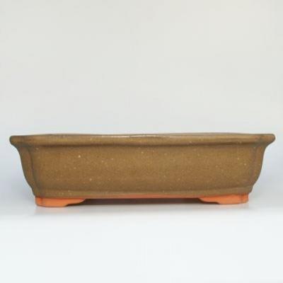 Ceramic bonsai bowl H 20 - 26,5 x 21 x 7,5 cm - 1